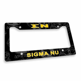 Sigma Nu Custom License Plate Frame