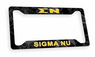 Sigma Nu Custom License Plate Frame