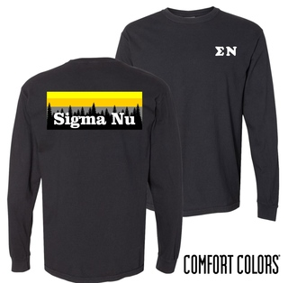 Sigma Nu Outdoor Long Sleeve T-shirt - Comfort Colors