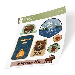 Sigma Nu Outdoor Sticker Sheet
