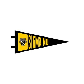 "Sigma Nu Pennant Decal 4"" Wide"