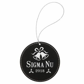Sigma Nu Leatherette Holiday Ornament