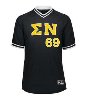 Sigma Nu Retro V-Neck Baseball Jersey
