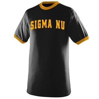 Sigma Nu Ringer T-shirt