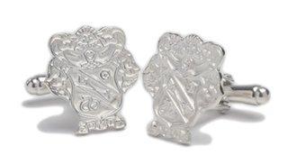 Sigma Nu Sterling Silver Crest - Shield Cufflinks