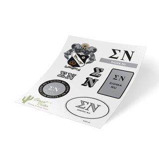 Sigma Nu Traditional Sticker Sheet