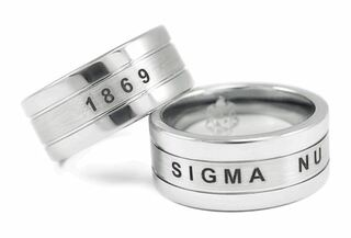 Sigma Nu Tungsten Rings