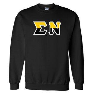 Sigma Nu Two Tone Greek Lettered Crewneck Sweatshirt