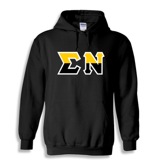 Sigma Nu Two Tone Greek Lettered Hooded Sweatshirt