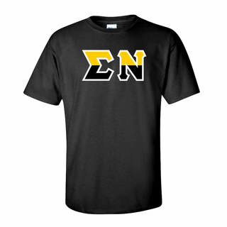 Sigma Nu Two Tone Greek Lettered T-Shirt