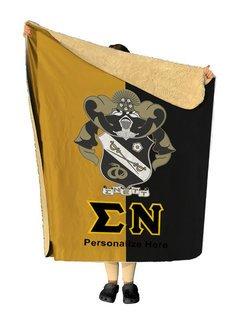 Sigma Nu Two Tone Two Tone Sherpa Lap Blanket