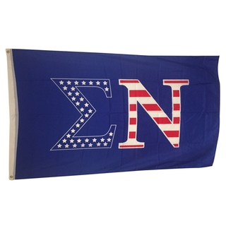 Sigma Nu USA Greek Letter Flag