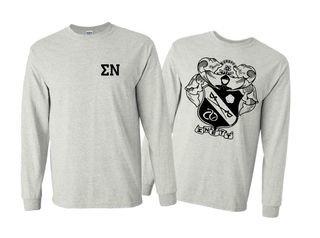 Sigma Nu World Famous Crest - Shield Long Sleeve T-Shirt- $19.95!