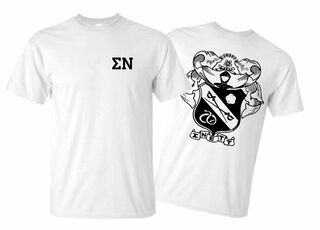 Sigma Nu World Famous Crest - Shield Tee