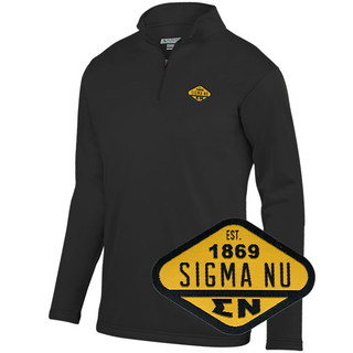 DISCOUNT-Sigma Nu Woven Emblem Wicking Fleece Pullover