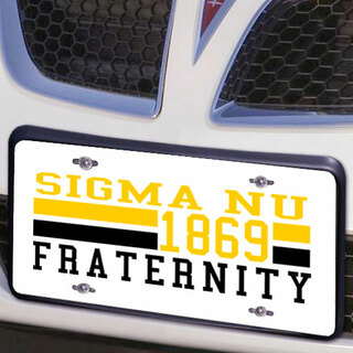Sigma Nu Year License Plate Cover