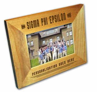 "Sigma Phi Epsilon 4"" x 6"" Stripes  Custom Picture Frame"