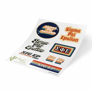 Sigma Phi Epsilon 70's Sticker Sheet
