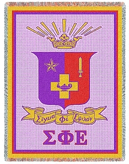 Sigma Phi Epsilon Afghan Blanket Throw