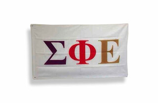 Sigma Phi Epsilon Big Greek Letter Flag