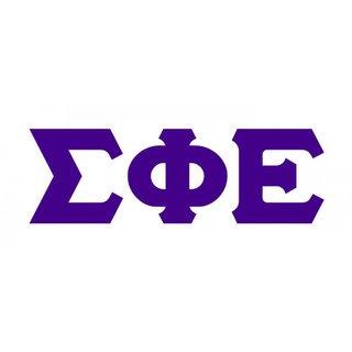 Sigma Phi Epsilon Big Greek Letter Window Sticker Decal