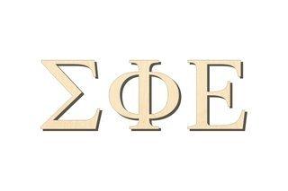 Sigma Phi Epsilon Big Wooden Greek Letters