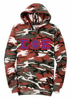 DISCOUNT-Sigma Phi Epsilon Camo Pullover Hooded Sweatshirt