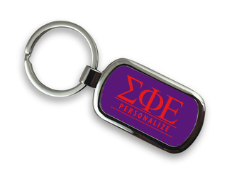 Sigma Phi Epsilon Chrome Custom Keychain