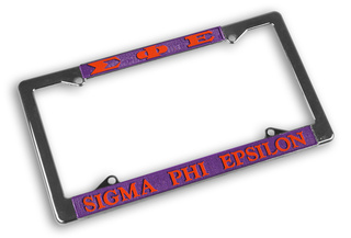 Sigma Phi Epsilon Chrome License Plate Frames