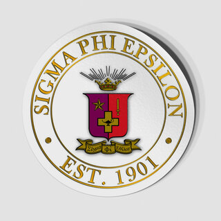 Sigma Phi Epsilon Circle Crest - Shield Decal
