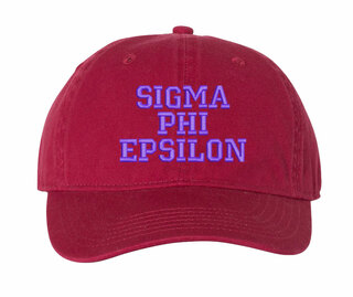 Sigma Phi Epsilon Comfort Colors Pigment Dyed Baseball Cap