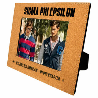Sigma Phi Epsilon Cork Photo Frame