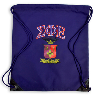 Sigma Phi Epsilon Crest - Shield Cinch Sack