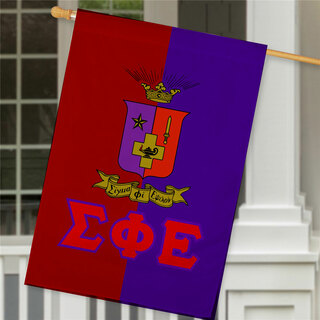 Sigma Phi Epsilon Crest House Flag