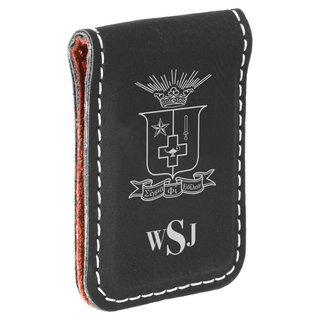 Sigma Phi Epsilon Crest Leatherette Money Clip