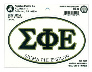 Sigma Phi Epsilon Euro Decal Oval Sticker