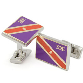 Sigma Phi Epsilon Flag cufflinks