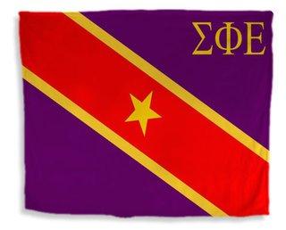 Sigma Phi Epsilon Flag Giant Velveteen Blanket