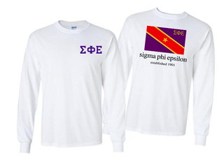 Sigma Phi Epsilon Flag Long Sleeve T-shirt