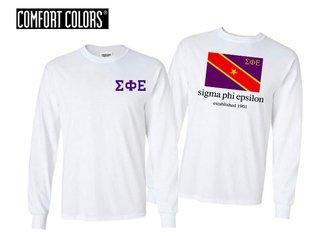 Sigma Phi Epsilon Flag Long Sleeve T-shirt - Comfort Colors