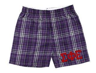 Sigma Phi Epsilon Flannel Boxer Shorts