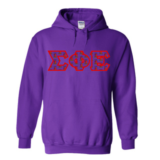 Sigma Phi Epsilon Fraternity Crest - Shield Twill Letter Hooded Sweatshirt