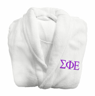 Sigma Phi Epsilon Fraternity Lettered Bathrobe