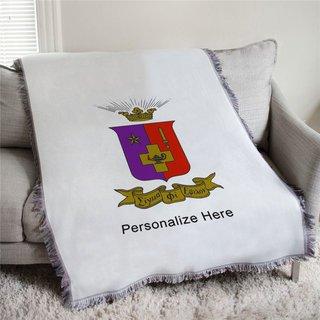 Sigma Phi Epsilon Full Color Crest Afghan Blanket Throw