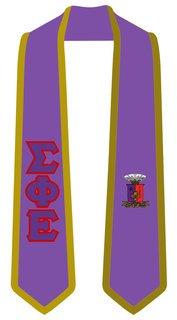 DISCOUNT-Sigma Phi Epsilon Greek 2 Tone Lettered Graduation Sash Stole