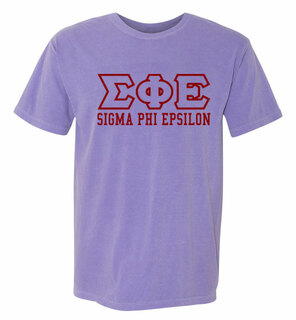 Sigma Phi Epsilon Greek Outline Comfort Colors Heavyweight T-Shirt