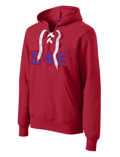 DISCOUNT-Sigma Phi Epsilon Lace Up Pullover Hooded Sweatshirt