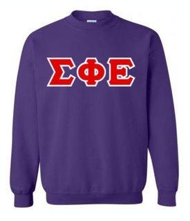 Sigma Phi Epsilon Sewn Lettered Crewneck Sweatshirt