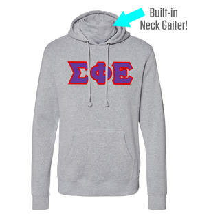 Sigma Phi Epsilon Lettered Gaiter Fleece Hooded Sweatshirt