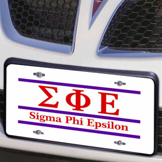 Sigma Phi Epsilon Lettered Lines License Cover